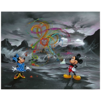 $10 SALE!!---Jim Warren Print on Canvas-Maestro Mickey//Friends---8x12 $10 SALE!!